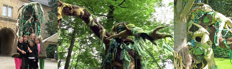 Stelzentheater, Stelzenläufer Baumwesen Waldwesen