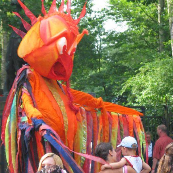 stelzentheater circolo-vier elemente Feuer-stelzenläufer-stelzen-Sommerfest