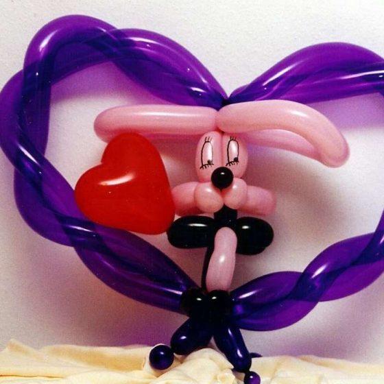 Hase aus Ballons