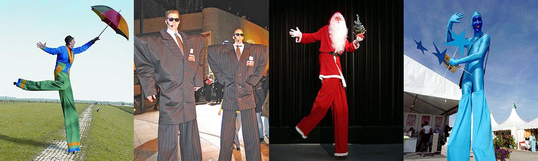 header-stelzentheater-weitere-stelzenfiguren-Gaukler-Entertainer-Security-Weihnachtsmann auf Stelzen-Sternengreifer